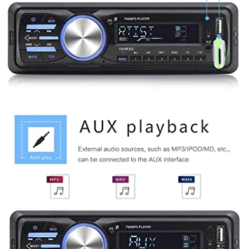 ZUKABMW - Radio para coche, estéreo Bluetooth, reproductor de MP3 ...