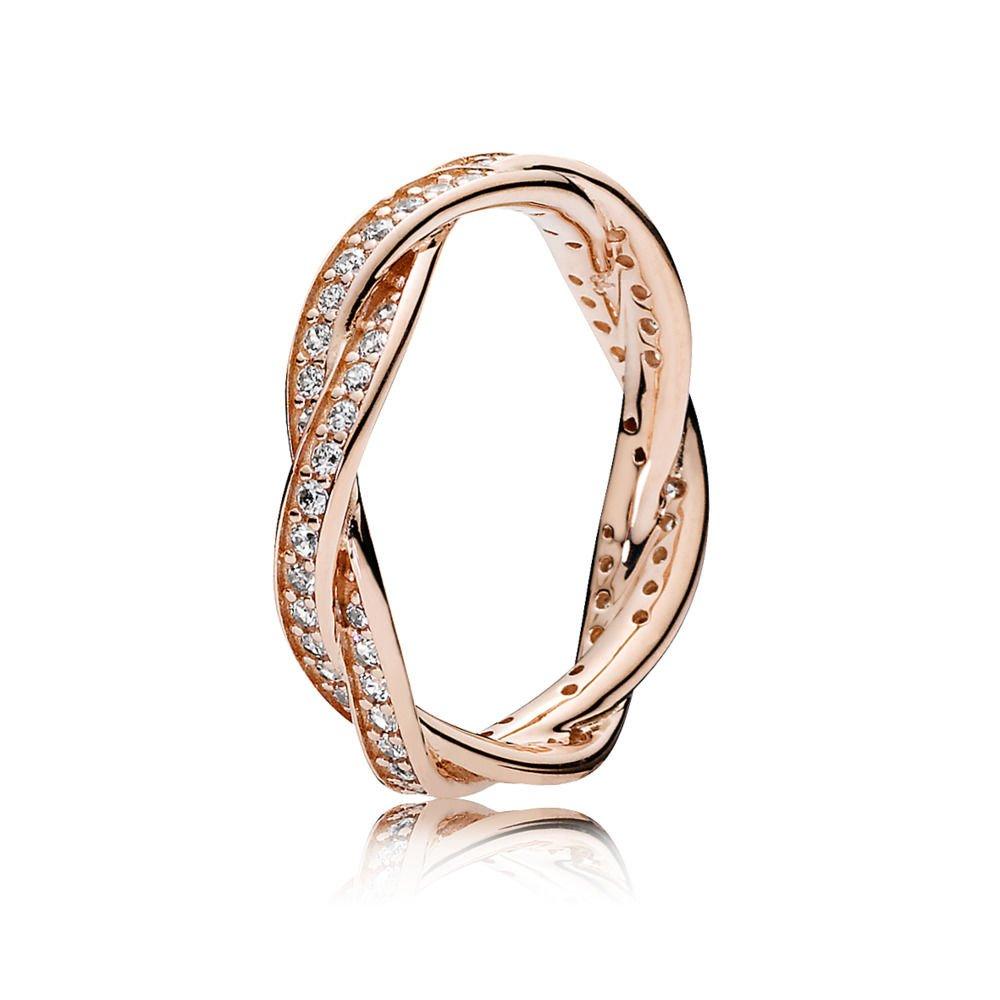 1c9d03f03 Amazon.com: Pandora Twist Of Fate Rose Gold Size 7 Ring 180892CZ-54: Jewelry