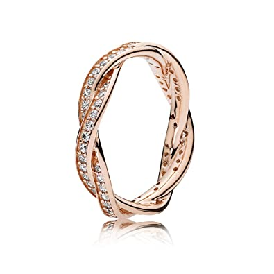 1c9d03f03 Amazon.com: Pandora Twist Of Fate Rose Gold Size 7 Ring 180892CZ-54: Jewelry