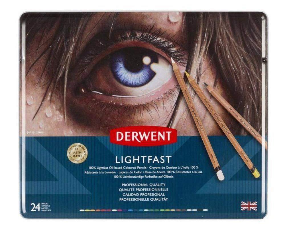 Crayons Artistic Lightfast Set (24ks), Derwent, Oil Lightproof, Art Supplies