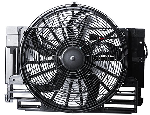 TOPAZ 64546921381 Auxiliary Condenser Cooling Fan Assembly for 2000-2006 BMW X5 Bmw Auxiliary Fan Assembly