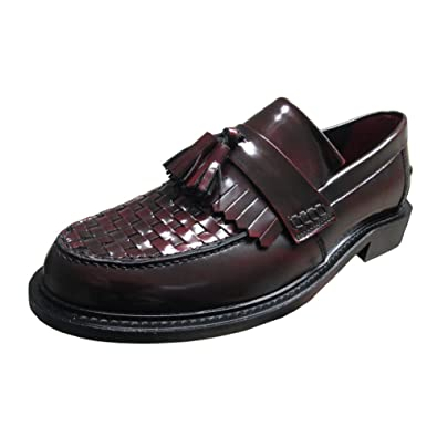 7382773ba3ff8 Delicious Junction Mens Black or Oxblood Locky1 Mod Tassel Weave ...