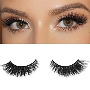 54ec5a8403c Amazon.com : Milanté BEAUTY Flirty Real Mink False Lashes Black Natural  Thick Long Full Reusable Fake Strip Eyelashes : Beauty