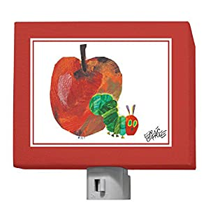 "Oopsy Daisy Eric Carle's Night Light, The Very Hungry Caterpillar and Apple, 5"" x 4"""