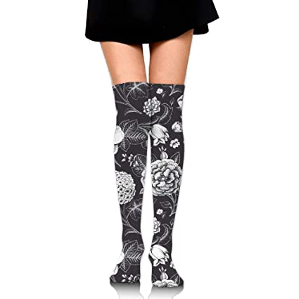 520db05046 Image Unavailable. Image not available for. Color: JIFHS Floral and Decorative  Compression Socks for Women & Girls - Best for Running ...