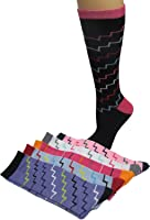 Colorful Zig-zag Knee-hi Socks, 6 Pack