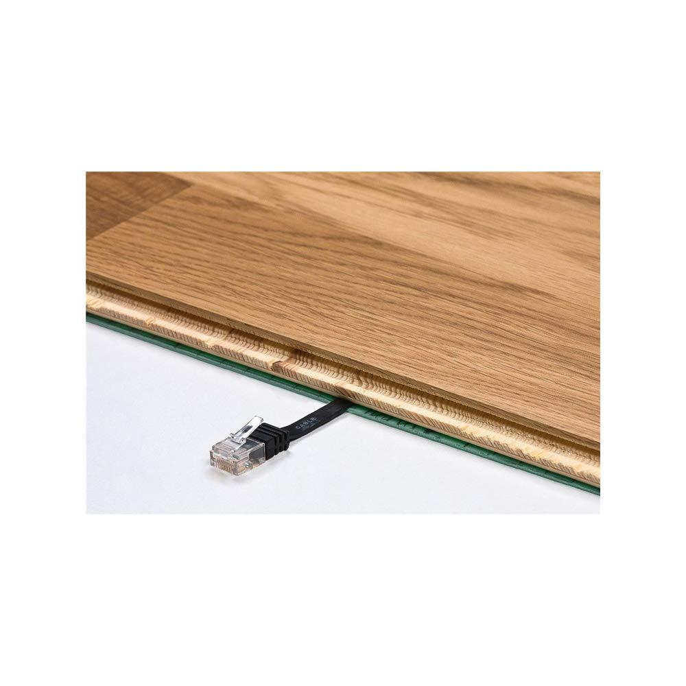 U//UTP Goobay 95895 CAT 6 Flat-Patch Cable Dark Brown 20 m Length