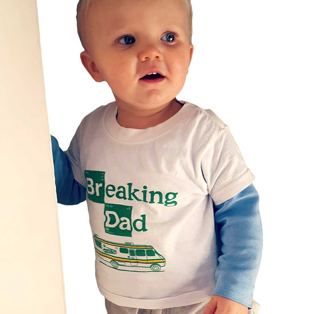 8e68d3f5 Breaking Dad - Kids T-shirt by Nippaz With Attitude. Breaking Bad toddler  and kids tee for ages 1-2 years: Amazon.co.uk: Baby