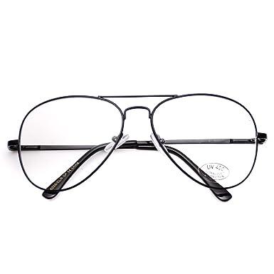 aviator type glasses  Amazon.com: Aviator Retro Style Glasses Super Vintage Metal Frame ...