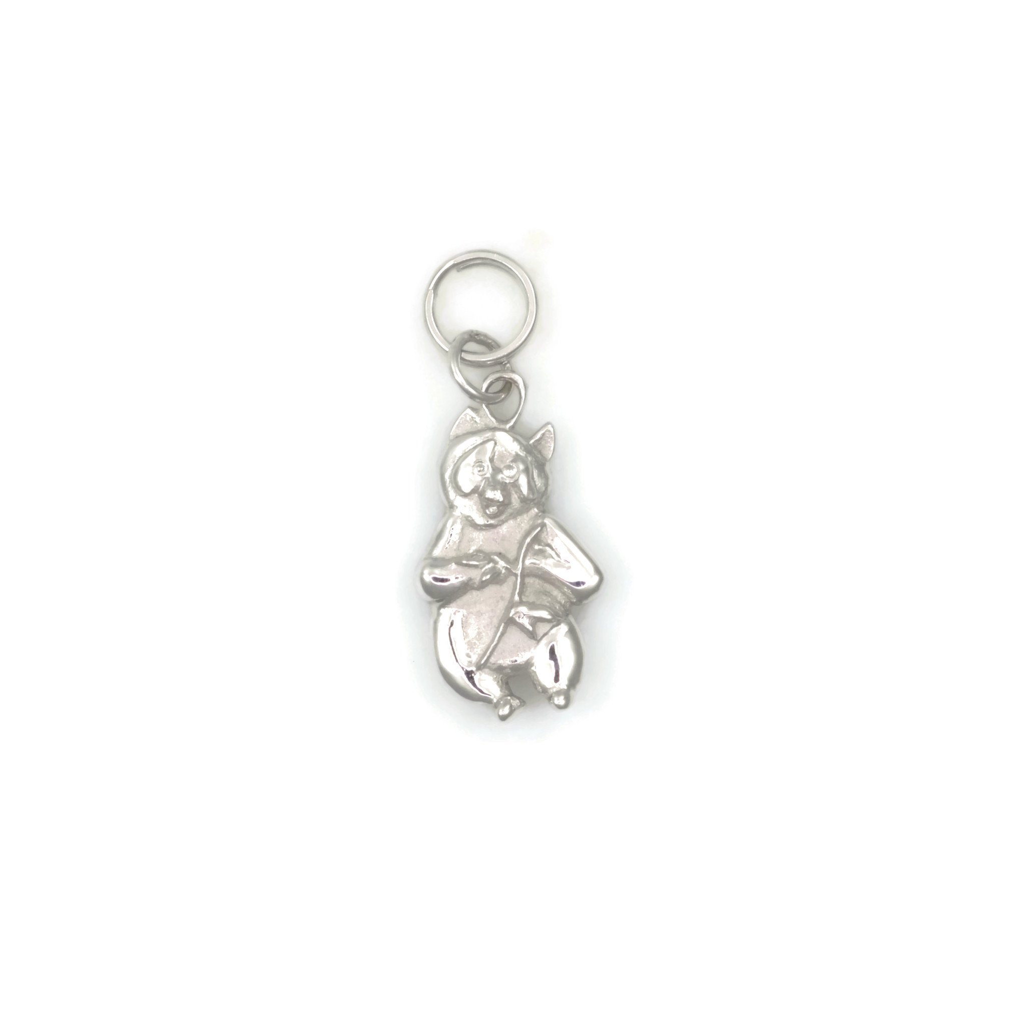 14Kt Panda Charm, 14Kt White Gold Panda Bear Charm, 14Kt Gold Panda Pendant, Donna Pizarro, Animal Whimsey Collection