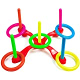 LUCWI Ring Toss Game Set, Outdoor & Indoor Fun Games Develops Your Eye-Hand Coordination Skills, Great Birthday Xmas…