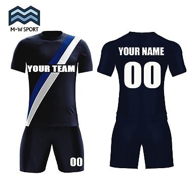 4623bb4a997f M-W Sports Custom Soccer Uniform Blue White Diagonal Stripe Team Jerseys - Make  Your Own Sport Jerseys