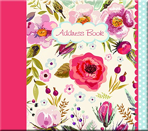 Vintage Blooms Address Book, 5.63 x 0.67 x 6.30 Inches by The Gifted Stationery