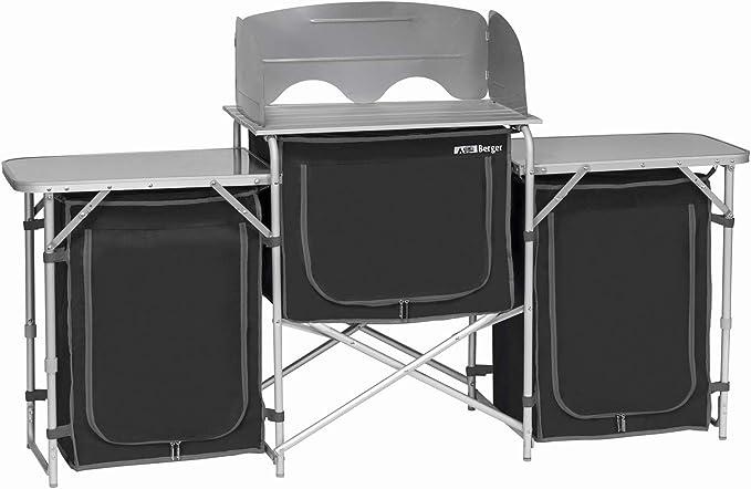 Berger Campingküche XL Küchenbox faltbar Aufbauschrank Camping Aufbewahrungsbox