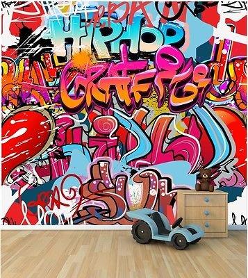 vgo ltd graffiti wall wallpaper mural style 1 childrens bedroomvgo ltd graffiti wall wallpaper mural style 1 childrens bedroom feature wall wm344 large 1500mmx1175mm amazon co uk diy \u0026 tools