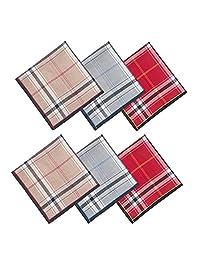 Set de 6 pañuelos de algodón para hombre, diseño de Hanky seleccionado