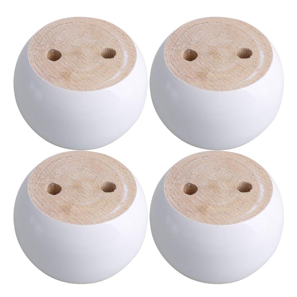 blanco Patas de madera para muebles