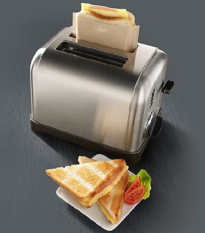 Bolsas para tostar Antiadherentes Toastabags resistentes al calor reutilizables, ideales para sándwiches de queso a la parrilla Pastelería para pizza, ...