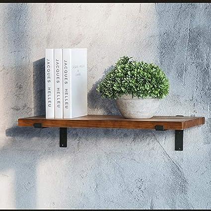 Estante flotante, Estante de pared de madera maciza rústica ...