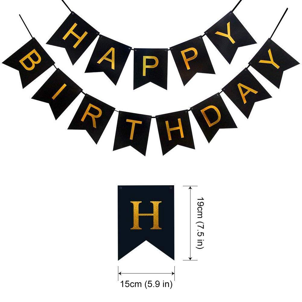 Amazon HankRobot 90th Birthday Decorations Party Supplies42pack Gold Number Balloon 90 Happy Banner Latex BalloonsBlack Golden Confetti