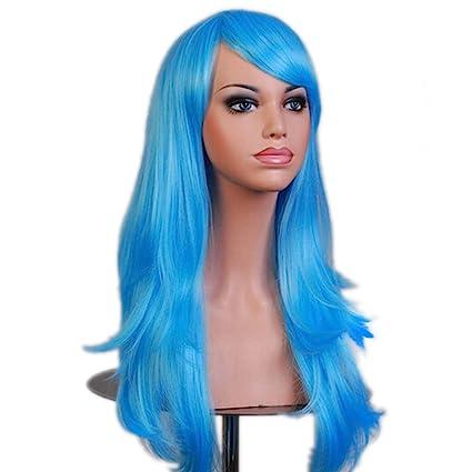 "28"" 70CM Peluca de pelo largo rizado para mujer cosplay fiesta peluca sintética de moda"