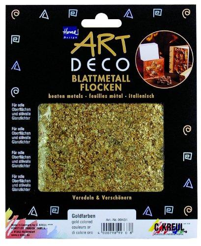 Home Design 99431 - Art Deco Blattmetall-Flocken Goldfarben 2 g