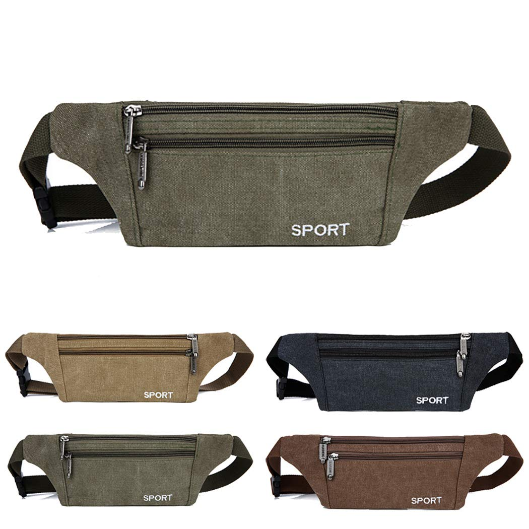 COAFIT Multifunctional Ultra Thin Canvas Sport Waist Pack