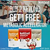 Ketond Advanced Ketone Supplement - 11.7g of goBHB per Serving (30 Servings) BHB (Beta-HydroxyButyrate) Supplement for Weight Loss, Increased Energy, Focus & Fat Loss (Grape)