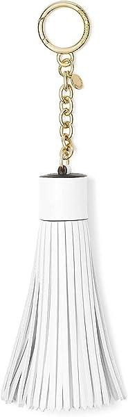 Michael Kors Womens Leather Tassel Fashion Keychain White O/S
