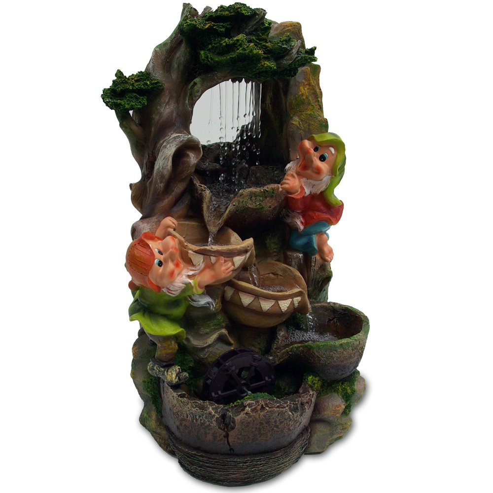 Gnome Falls Cascading Water Fountain