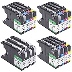 Supricolor Replacement Brother LC75 Brother LC71 High Yield Ink Cartridges Use for Brother MFC-J435W MFC-J430W MFC-J280W MFC-J6910DW J825DW J4300 MFC-J6710DW ( 6 BK + 3C + 3M + 3Y)