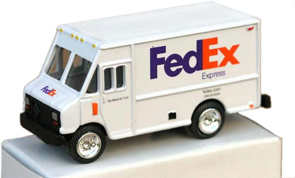 "FedEx Express DieCast Metal Step Van Delivery Truck Scale 1:64-3"" Length"