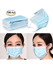100PCS (3 PLY)-Disposable Breathing Ear loop surgeon Doctor Face Mask | Dust Mask for germ protection | Masks for Flu|Medical|Surgical|Sick|Allergy|Dental|Cleaning|Chemical|Pollution|Hospital|Cold Weather. (Light Green)
