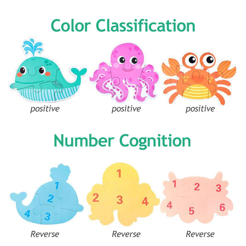 48 Pieces Jumbo Preschool Puzzles Set for Children JUGROUPE Zoo Floor Puzzles for Kids Agse 4-8 Animals Gaint Learning Educational Puzzles Toys Great Gift for Boys and Girls
