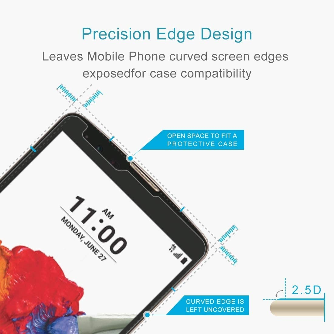 K550 Tempered Glass Film XHC Screen Protector Film 100 PCS 0.26mm 9H 2.5D Tempered Glass Film for LG Stylo 2 Plus
