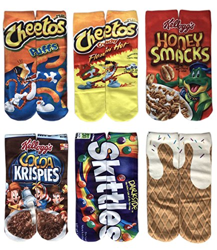 Leoparts Women Men 3D Funny Crazy Novelty Cartoon Printing Food Tube Socks Ice Cream Shoes Women