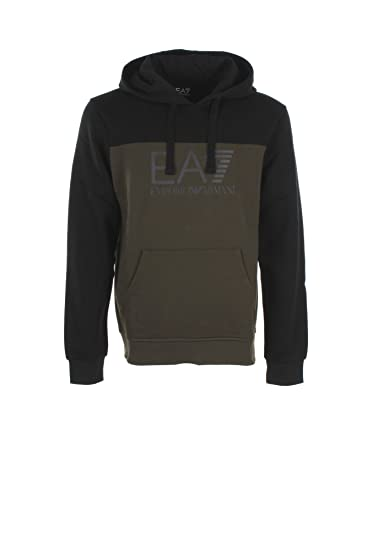 2df0f3cca EA7 Mens Khaki Hooded Sweatshirt S: Amazon.co.uk: Clothing