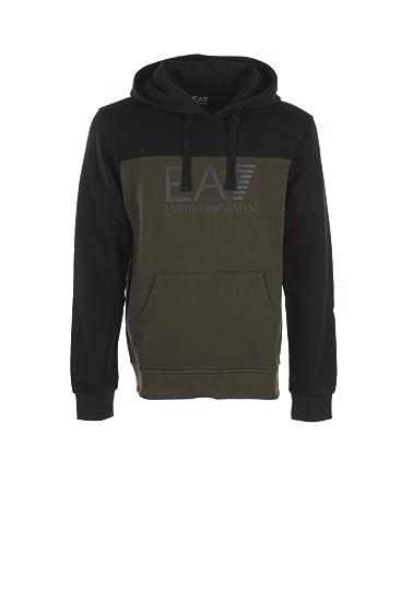 2ce6da8e0e1 EA7 Mens Khaki Hooded Sweatshirt S  Amazon.co.uk  Clothing