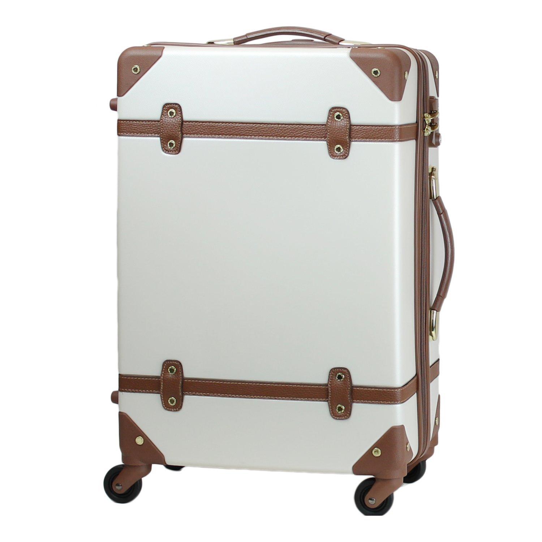 MOIERG(モアエルグ) キャリーバッグ YKK使用 軽量 キャリーケース スーツケース 3年保証 B01KWLP6HI L|オフホワイト オフホワイト L