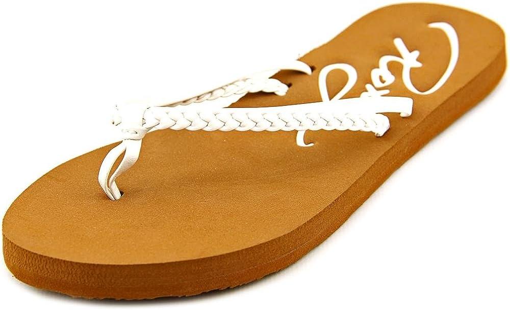 White Roxy Girl Cabo Beach Sandal 4 M US Big Kid Little Kid//Big Kid