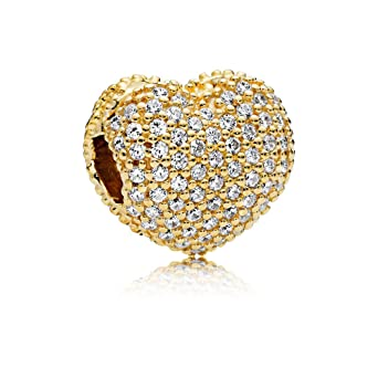 2b3aa6ed1 Image Unavailable. Image not available for. Color: Pandora Shine Pave Open  My Heart ...