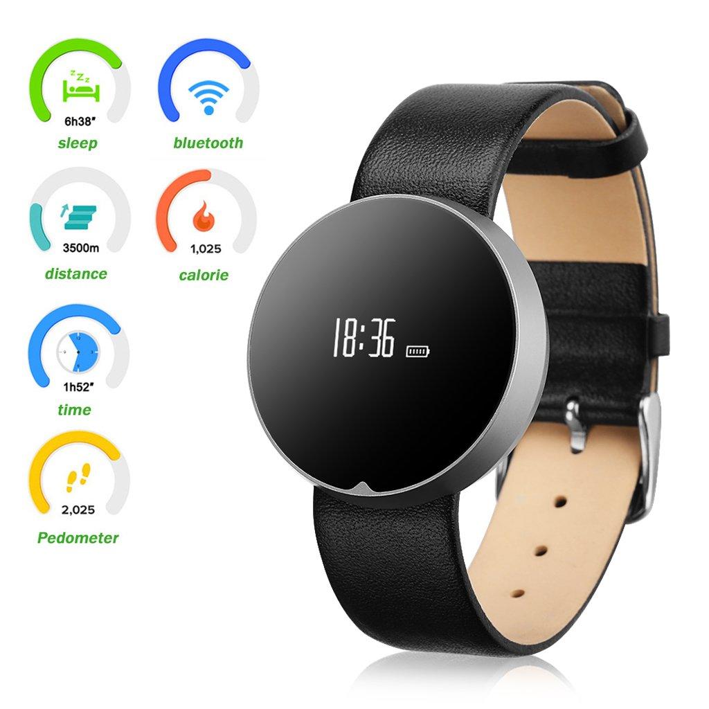 Excelvan Pai - Adjustable Smartwatch Pulsera de Actividad (Oled, Calorias, Podometro, Bluetooth, Monitoreo de Sueño, Despertador, Reloj Inteligente ...