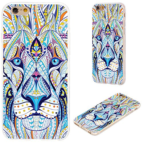 VoMoTec iPhone 6s Case,iPhone 6 Case, [Cute Series] Shockproof Anti-Scratch Slim Flexible Soft TPU Protective Skin Cover Case for iPhone 6 6s 4.7 inch,Totem Tattoo Head of The Lion (Girly Best Friend Tattoos)