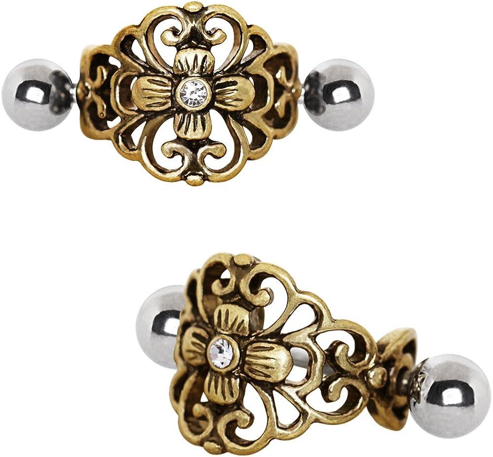 PIERCE ME 3pcs Various Antique Design Cartilage Cuff Earrings