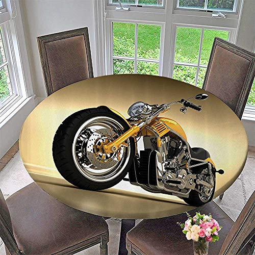 Chateau Easy-Care Cloth Tablecloth Custom Aesthetic Hobby Motorbike with Futuristic Modern Mirrors Riding Theme 67