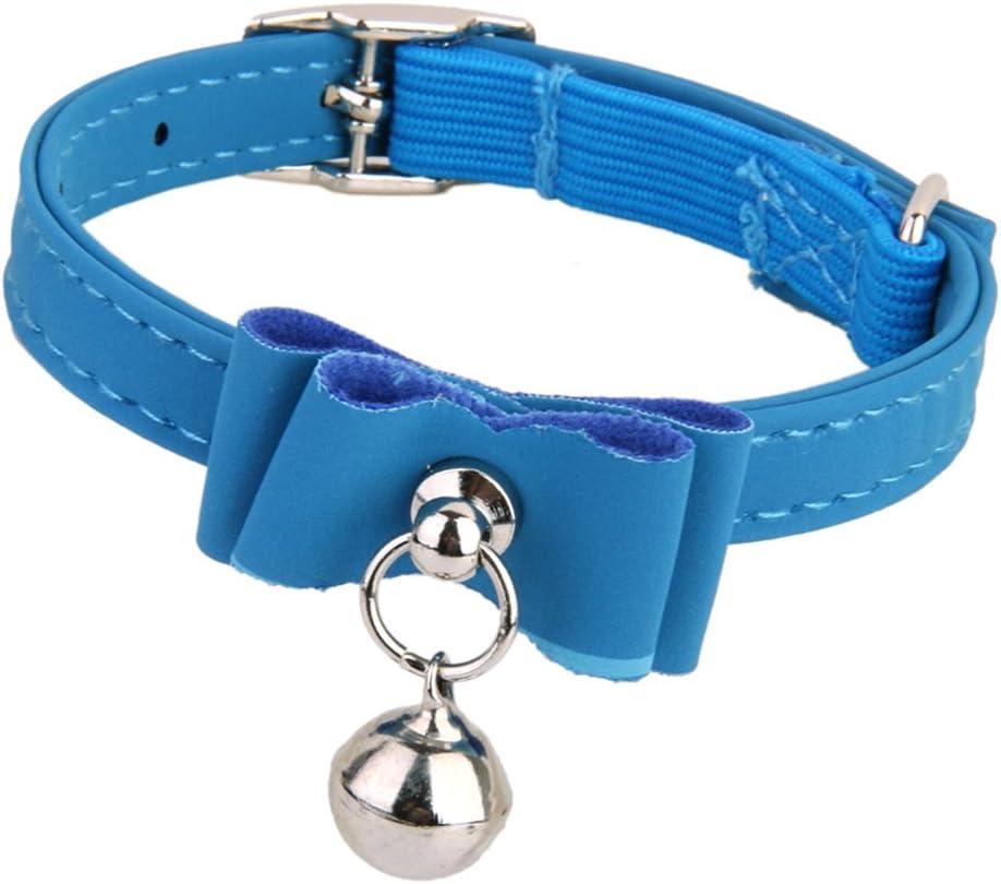 Collare Regolabile Pet Gattino Sicurezza Cucciolo Gatto Campana Laccio Da Collo Fibbia Blu