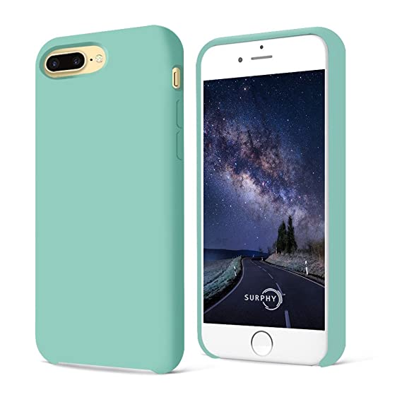 official photos 35ffc 7088d SURPHY Case for iPhone 8 Plus Case, Silicone case for iPhone 7 Plus  Case,Liquid Silicone Gel Rubber Shockproof Case for Apple iPhone 7 Plus  (2016) / ...