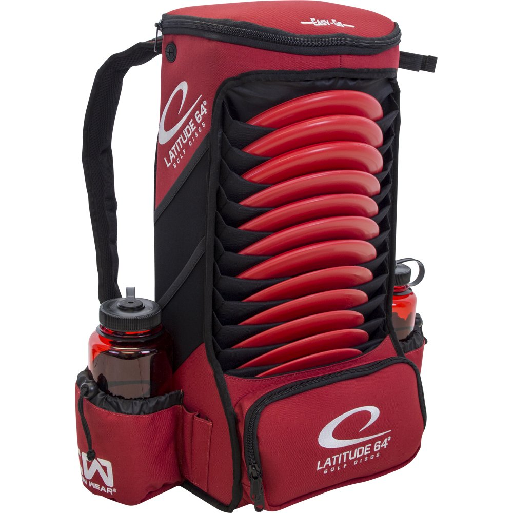 Latitude 64 Easy-Go Backpack Disc Golf Bag (Red) by Latitude 64