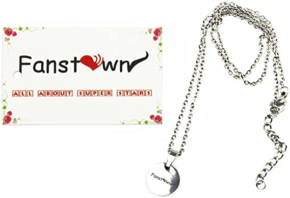 G-Friend Fanstown Kpop Team Logo 0.35 inch Diameter Heart Shape Water Prove Necklace Fashion and Cool