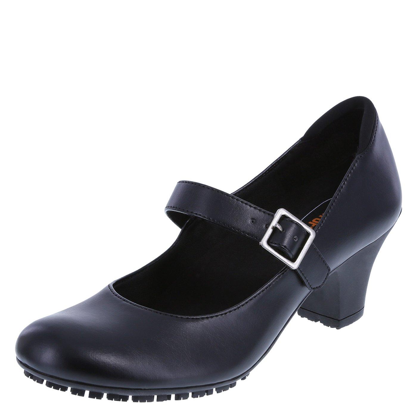 safeTstep Women's Black Slip-Resistant Dani Mary Jane Pump 10 Regular